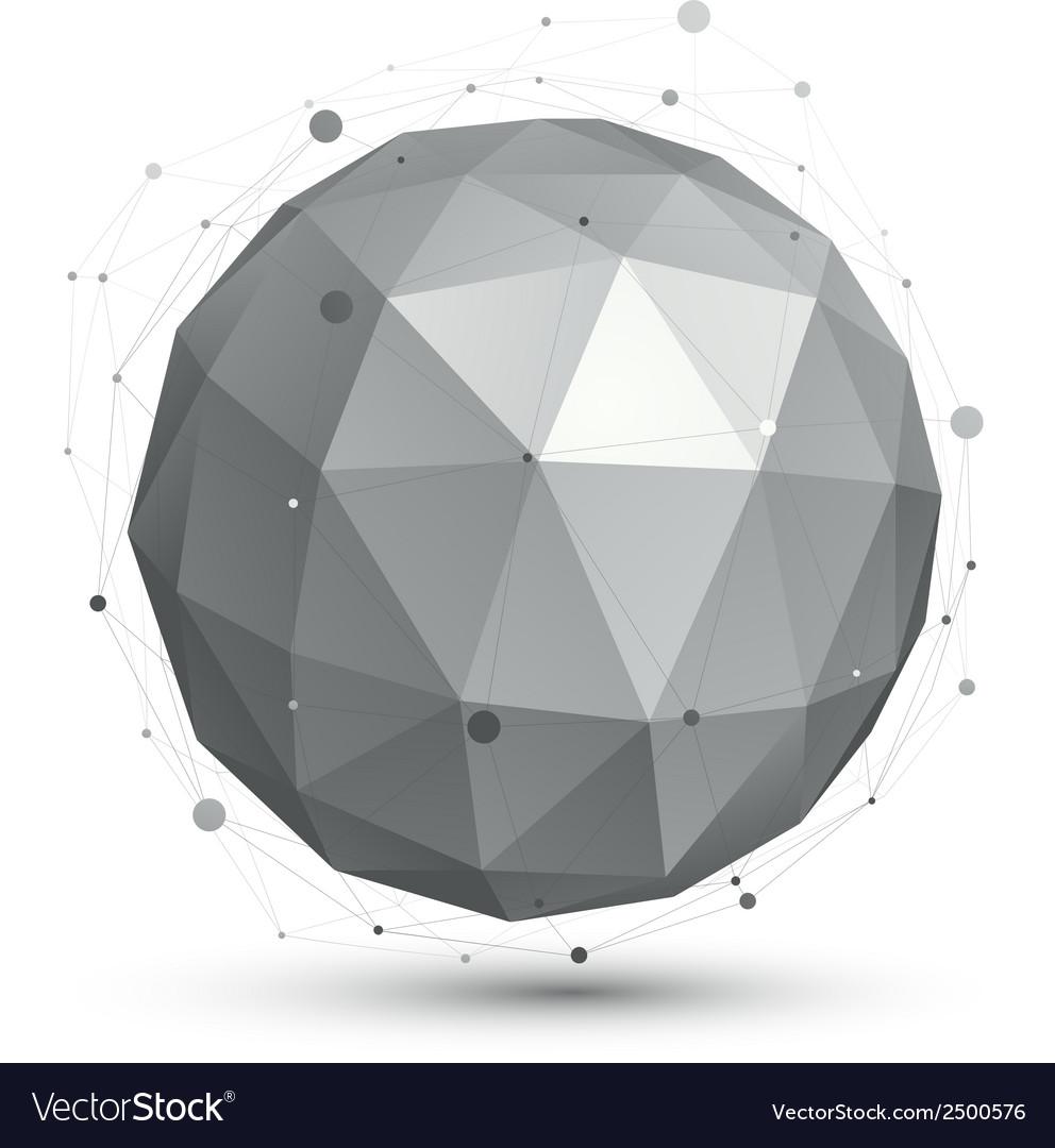 Spherical monochrome digital eps8 object vector | Price: 1 Credit (USD $1)