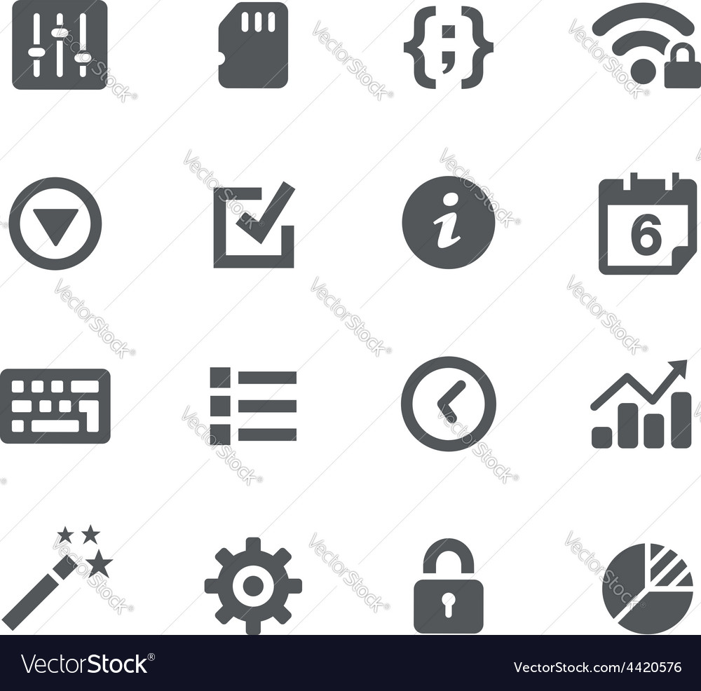 System setings icons - apps interface vector