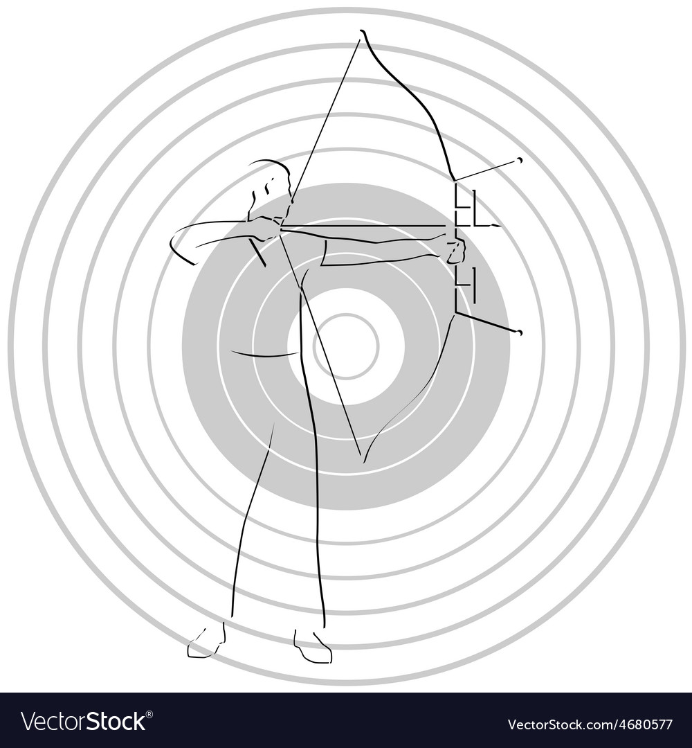 Archer and target vector | Price: 1 Credit (USD $1)
