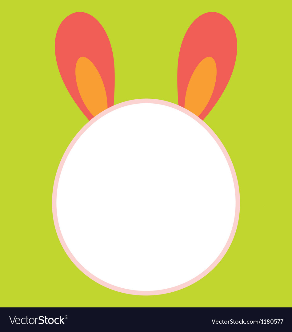 Bunny head template vector | Price: 1 Credit (USD $1)
