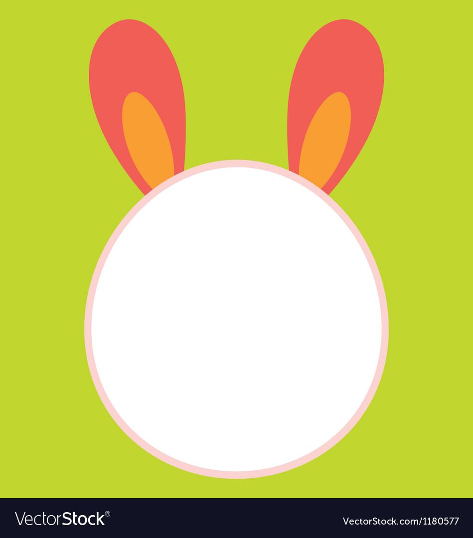 Bunny head template vector | Price: 1 Credit (USD $1)