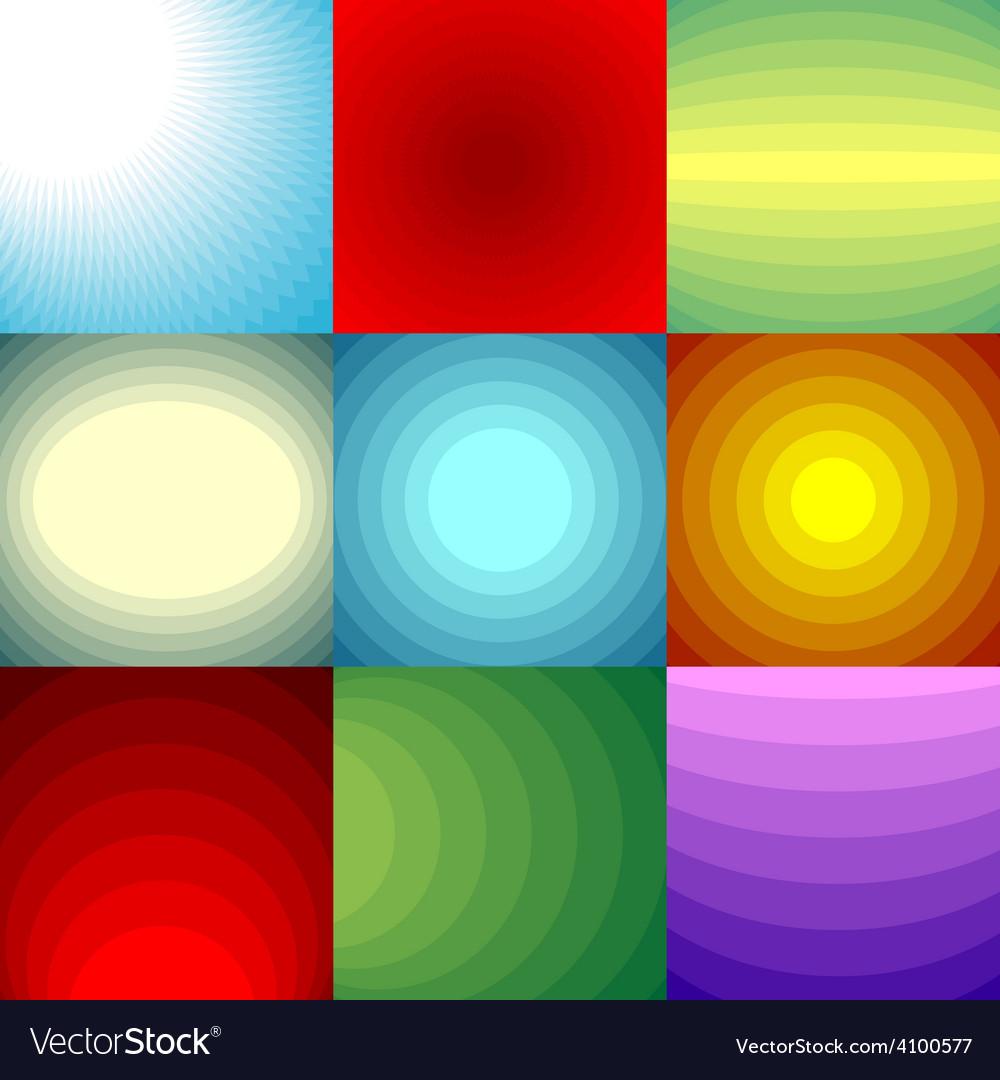 Color blend backgrounds set vector   Price: 1 Credit (USD $1)