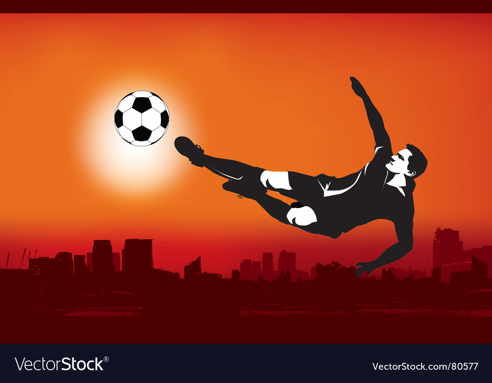 Footballer strike vector | Price: 1 Credit (USD $1)