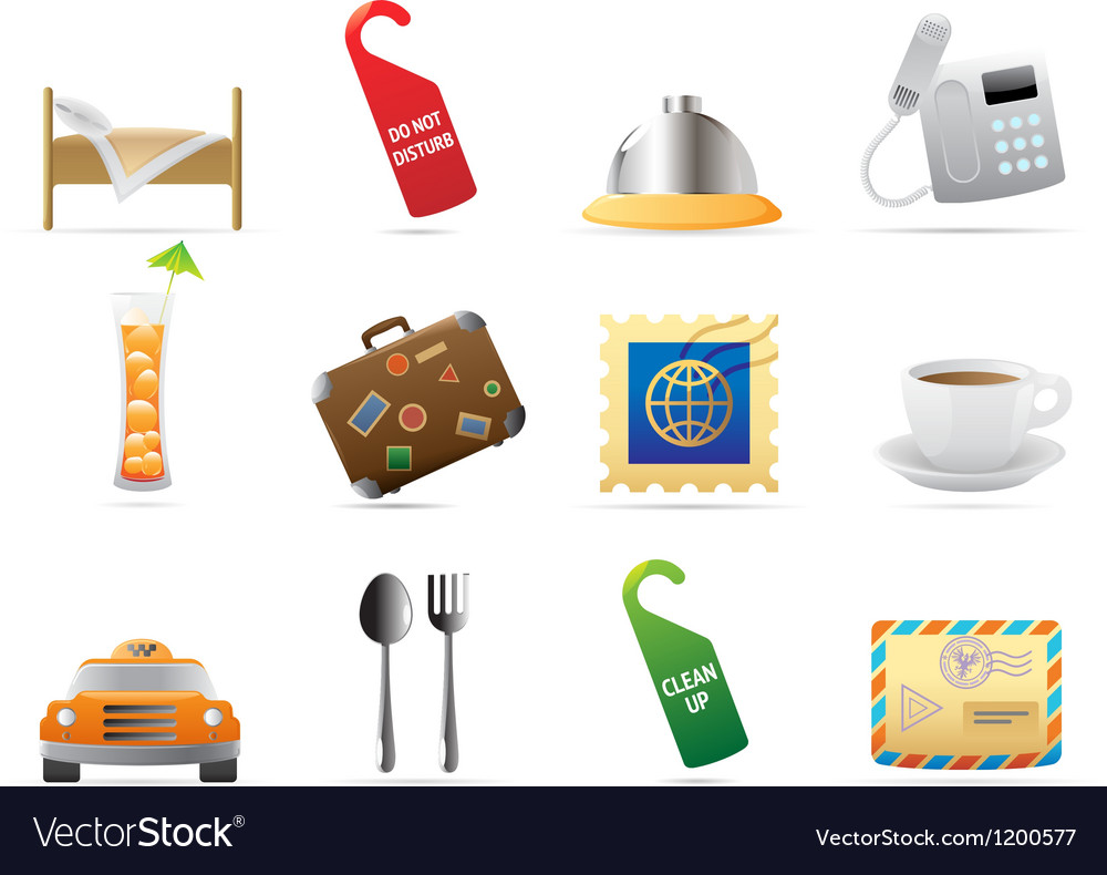 Icons for hotel and services vector | Price: 1 Credit (USD $1)