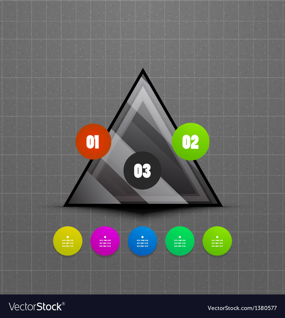 Infographics geometrical steps option banner vector   Price: 1 Credit (USD $1)