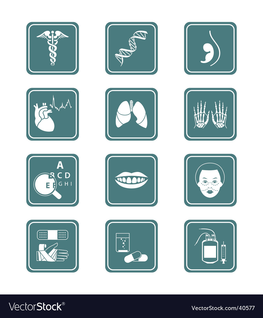 Medicine icons  teal series vector | Price: 1 Credit (USD $1)