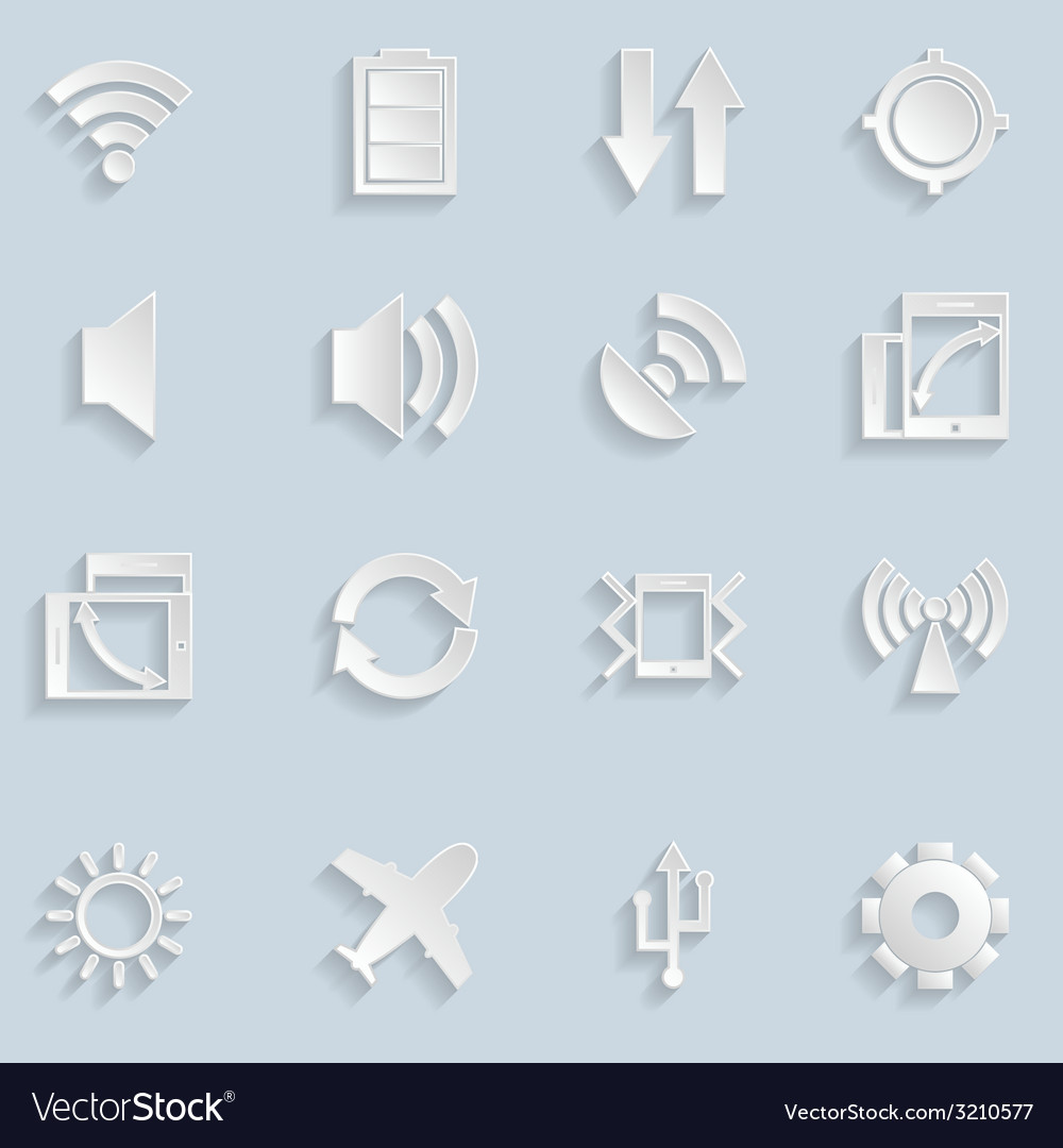 Paper mobile app icons vector | Price: 1 Credit (USD $1)