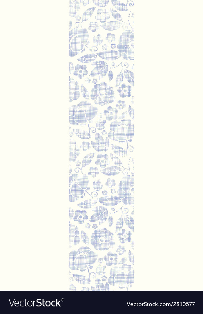 Purple textile flowers texture vertical seamless vector | Price: 1 Credit (USD $1)