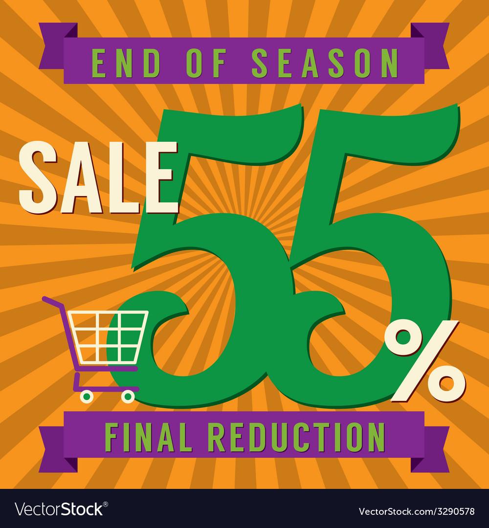 55 percent end of season sale vector | Price: 1 Credit (USD $1)