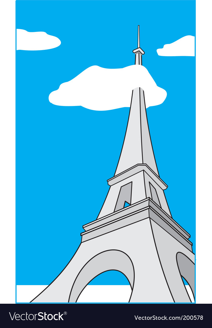 Cartoon eiffel tower vector | Price: 1 Credit (USD $1)