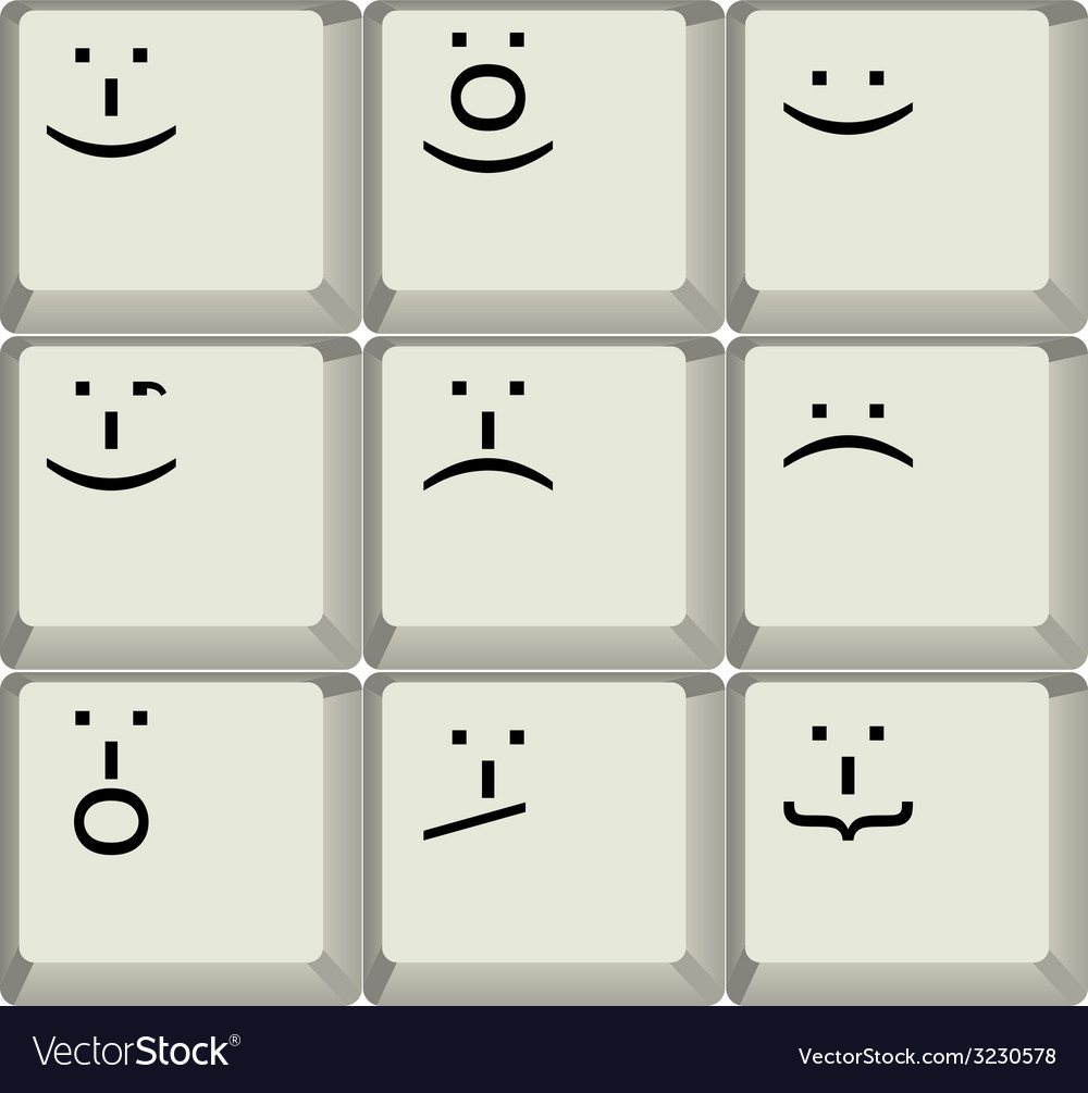 Keyboard smilies vector | Price: 1 Credit (USD $1)