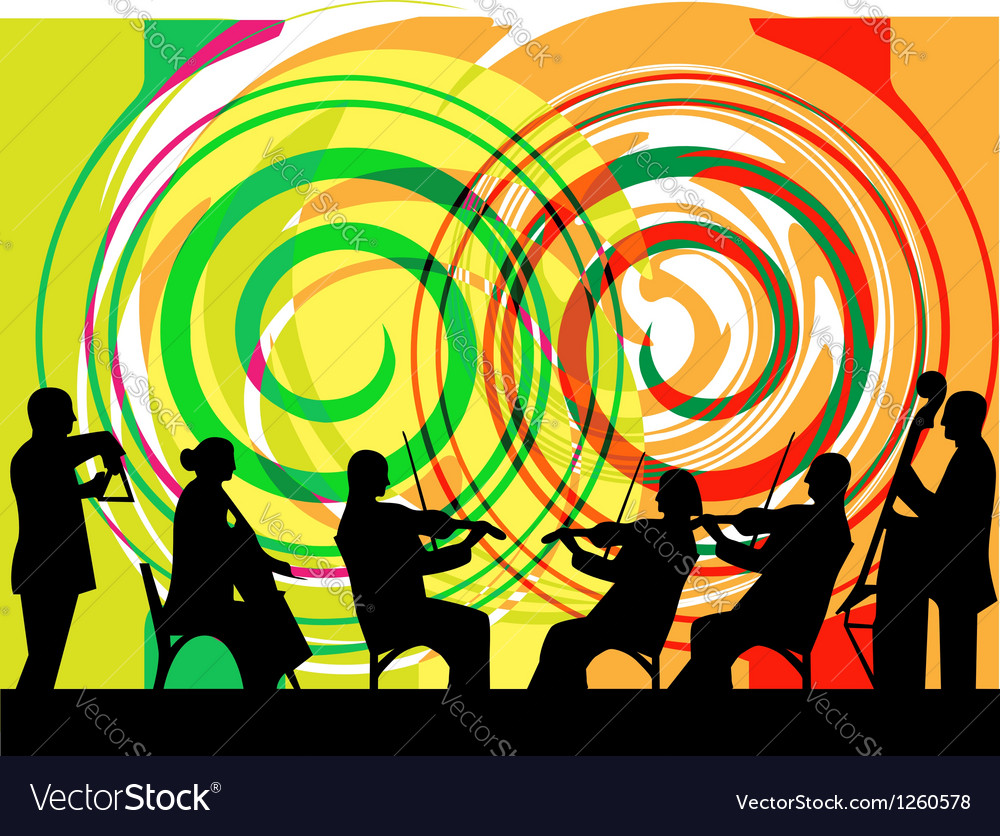 Musicians play classical music vector | Price: 1 Credit (USD $1)