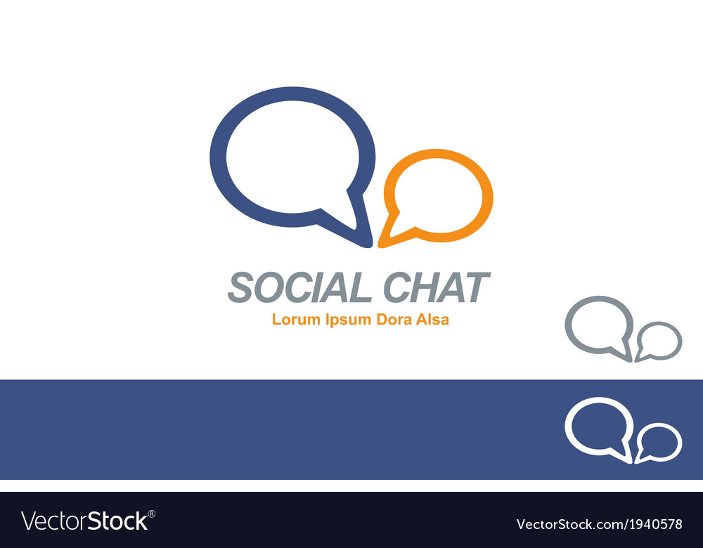 Social media chat network business logo concept vector | Price: 1 Credit (USD $1)