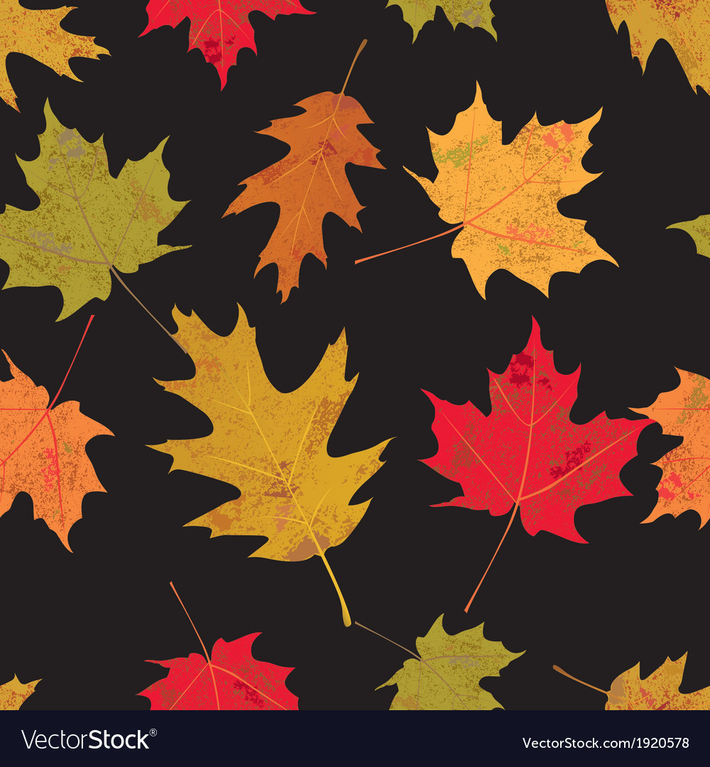 Tiled colorful leaves vector