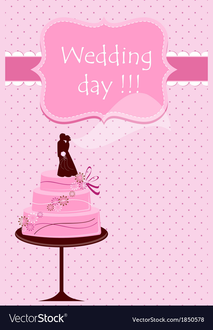 Wedding card with cake vector | Price: 1 Credit (USD $1)