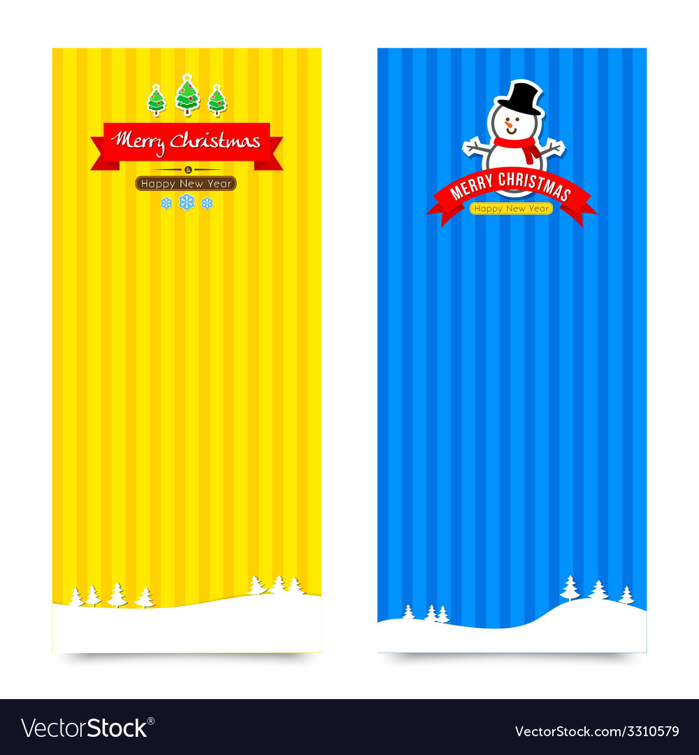 044 merry christmas banner background collection vector | Price: 1 Credit (USD $1)
