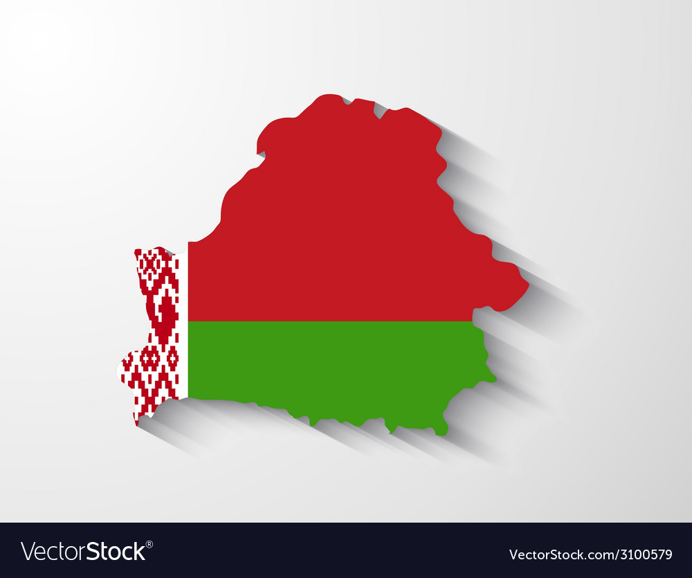 Belarus map with shadow effect vector | Price: 1 Credit (USD $1)