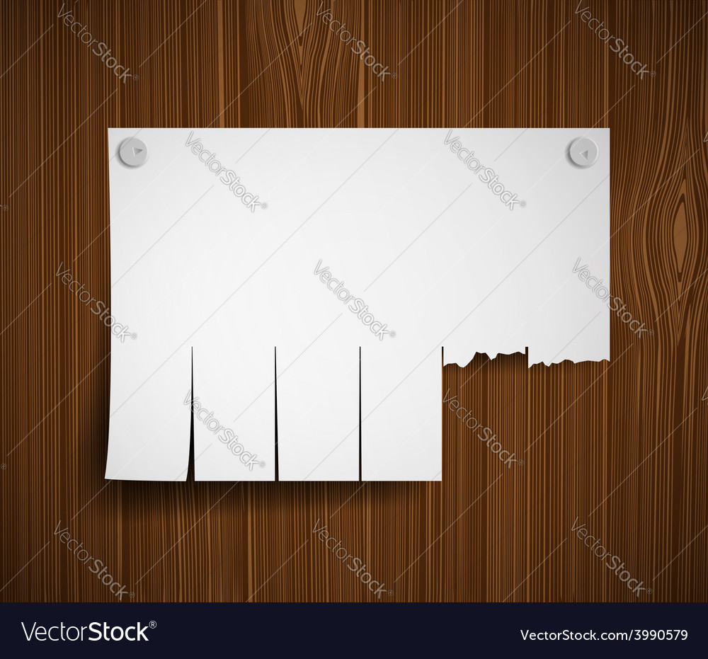 Blank ads on the wooden wall vector | Price: 1 Credit (USD $1)