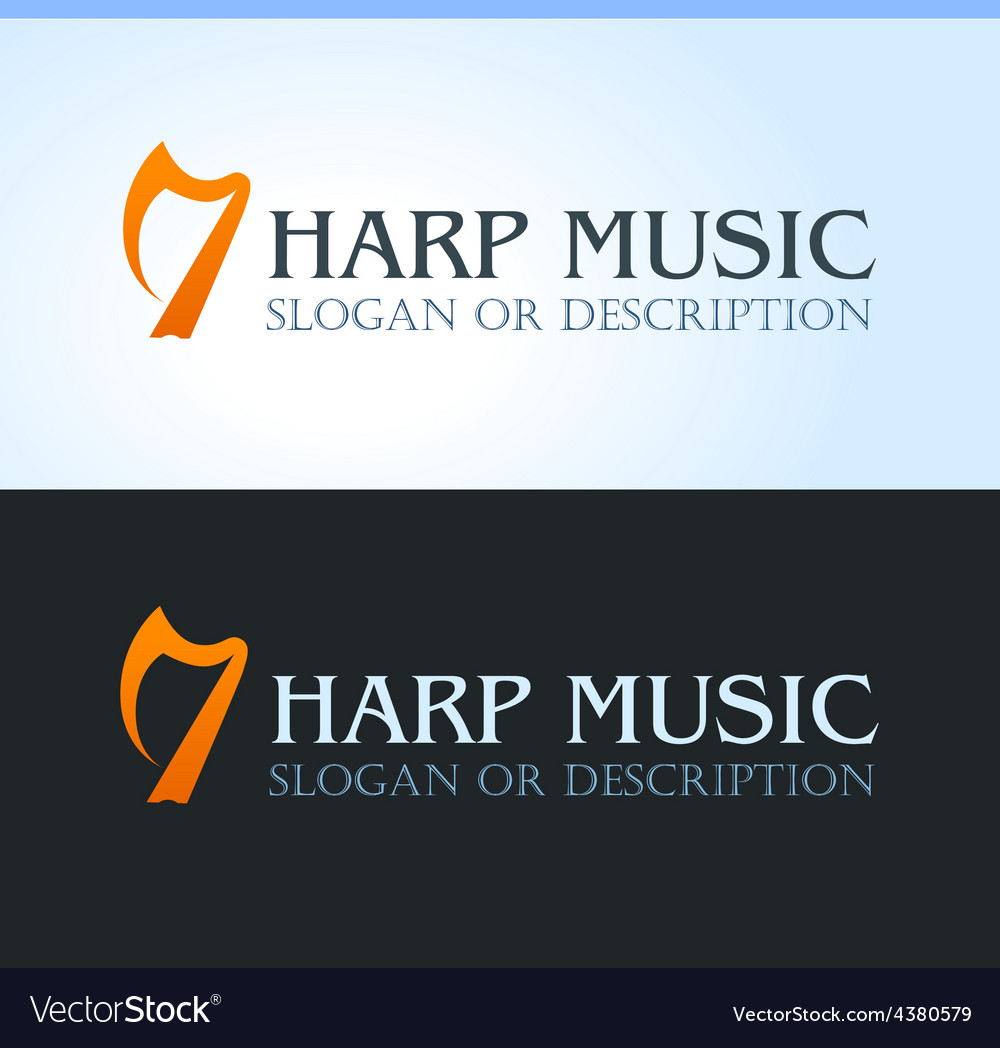 Celtic music logo vector