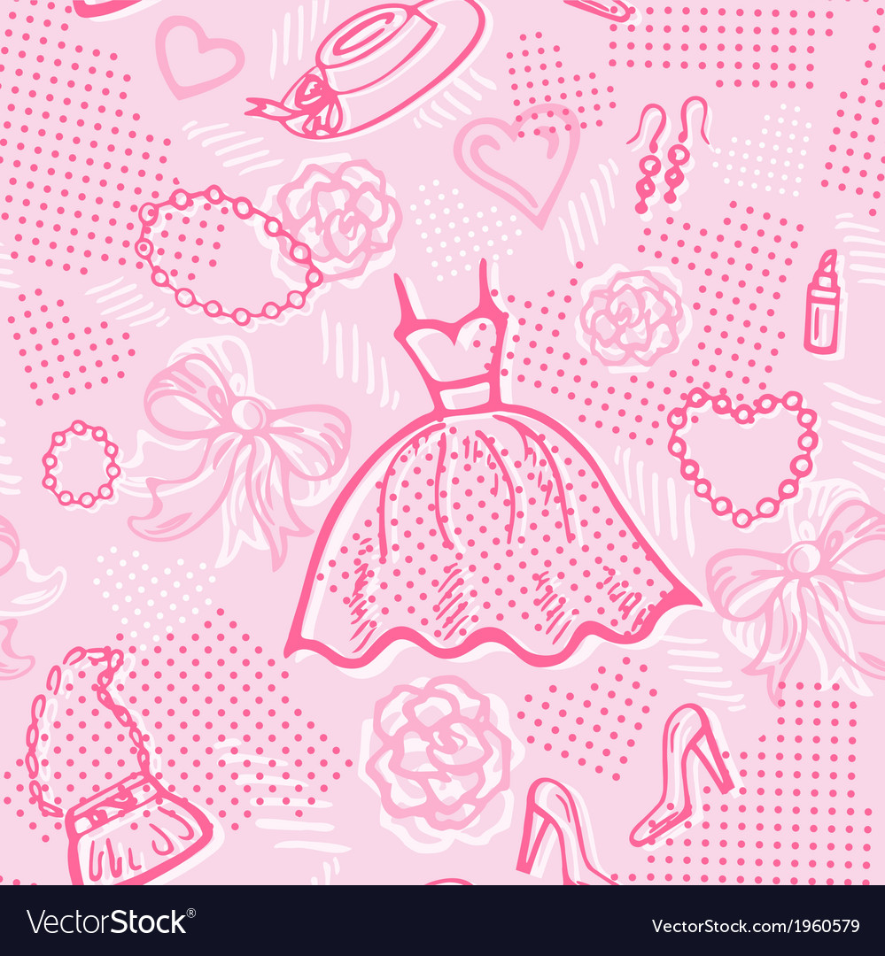 Fashion seamless pattern with accessories vector | Price: 1 Credit (USD $1)