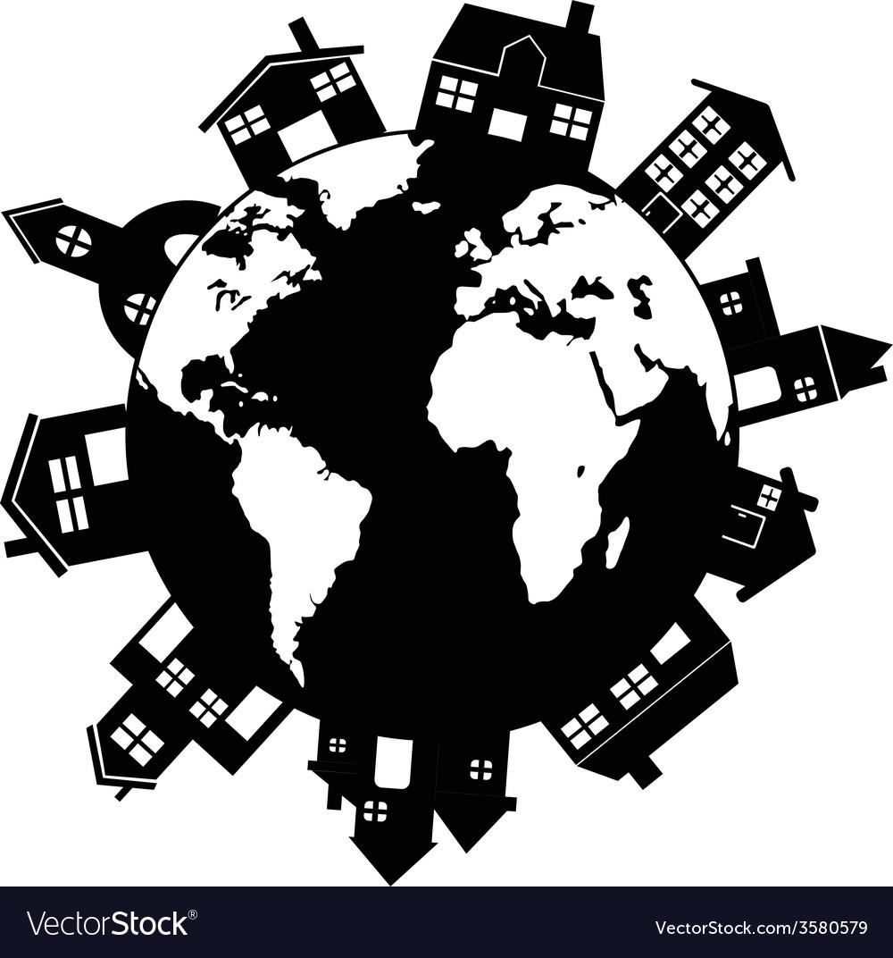 House around the world vector | Price: 1 Credit (USD $1)