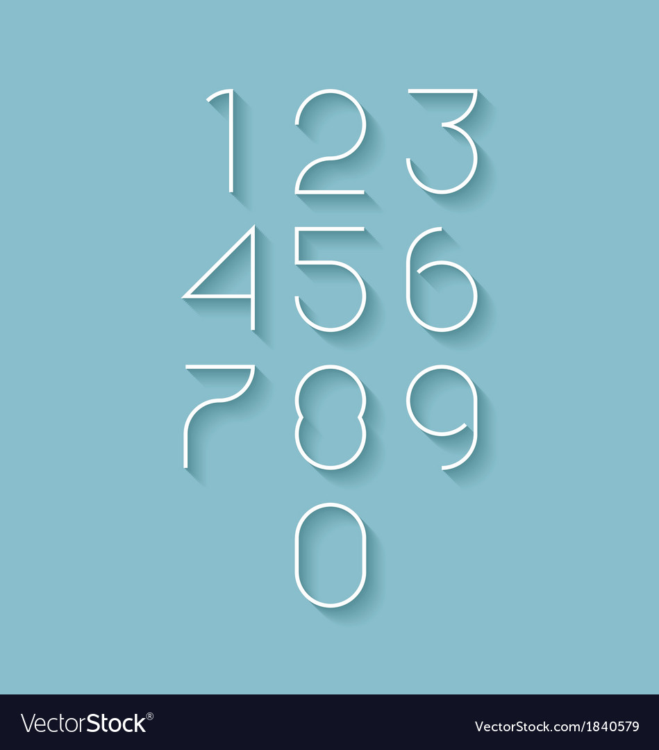 Modern numbers set vector | Price: 1 Credit (USD $1)