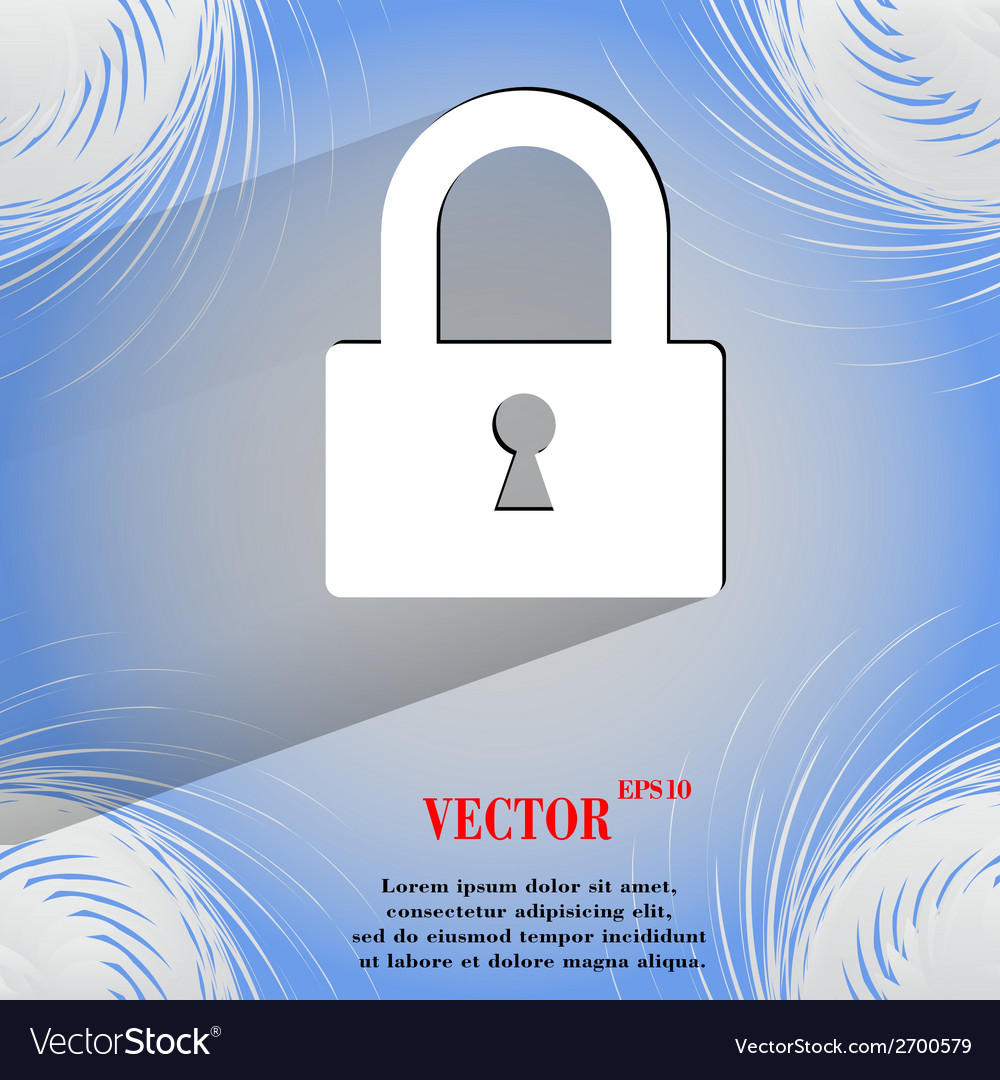 Padlock flat modern web design on a flat geometric vector | Price: 1 Credit (USD $1)