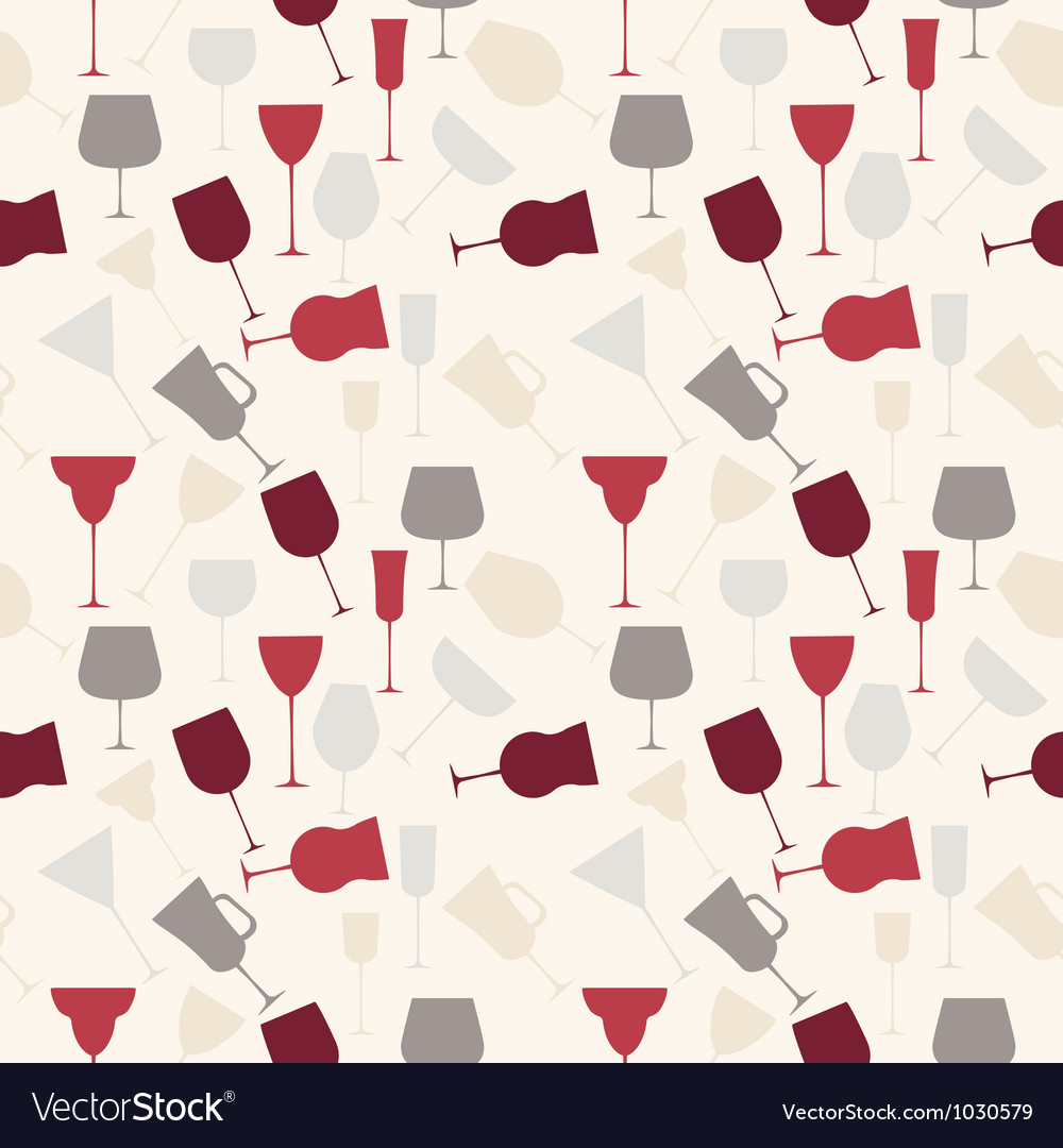 Seamless background pattern of retro alcoholic vector | Price: 1 Credit (USD $1)