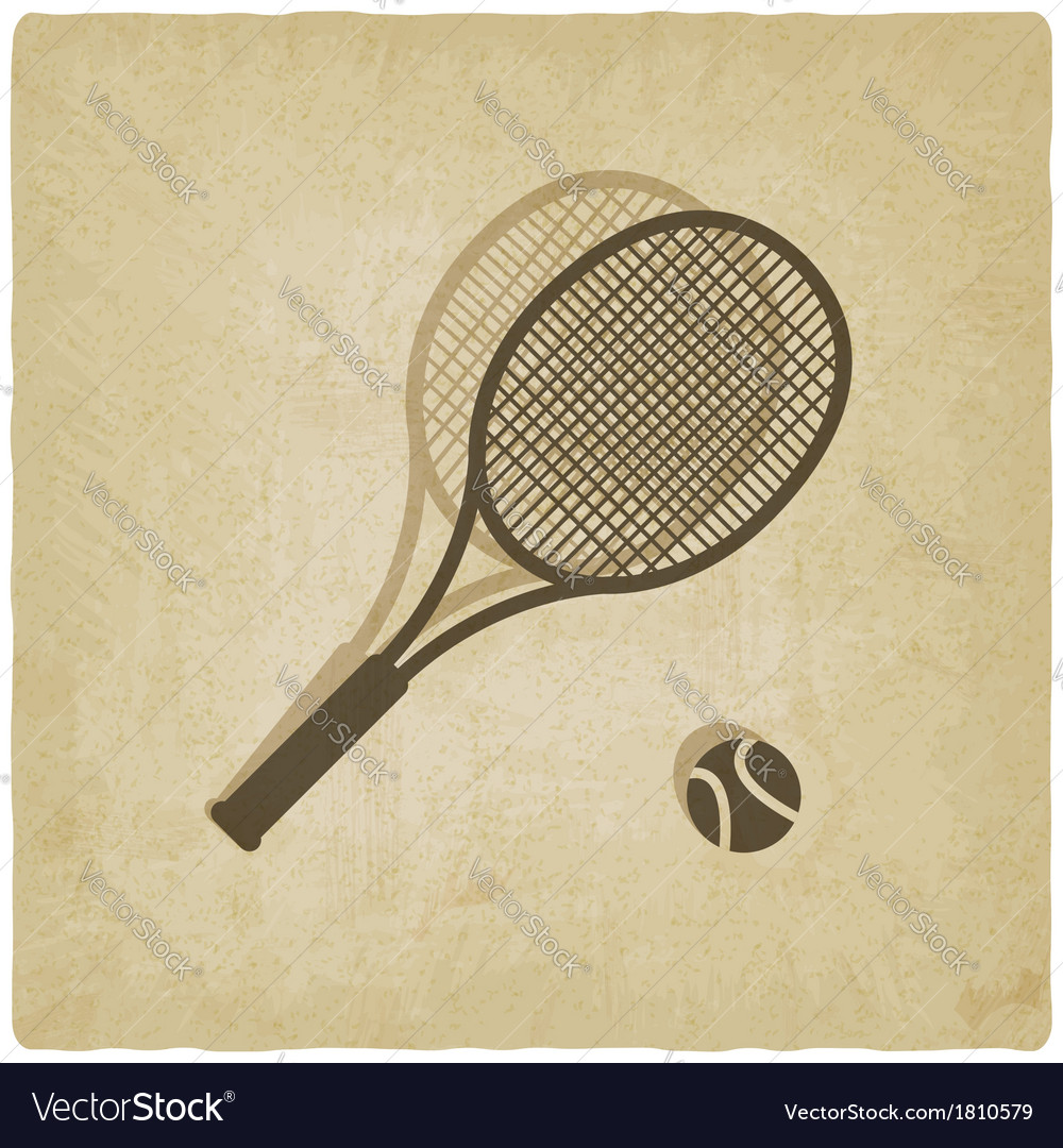 Sport tennis logo old background vector | Price: 1 Credit (USD $1)