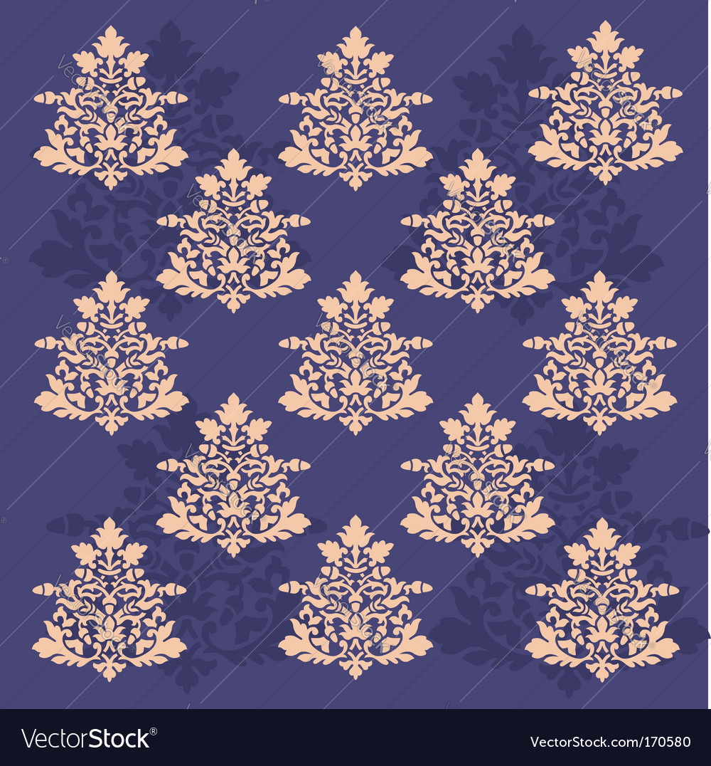 Antique scroll wallpaper seamless vector | Price: 1 Credit (USD $1)