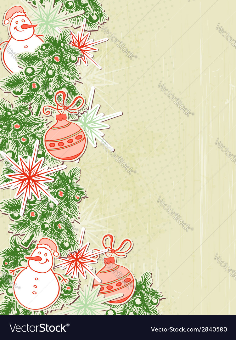 Christmas background with paper decorations vector | Price: 1 Credit (USD $1)