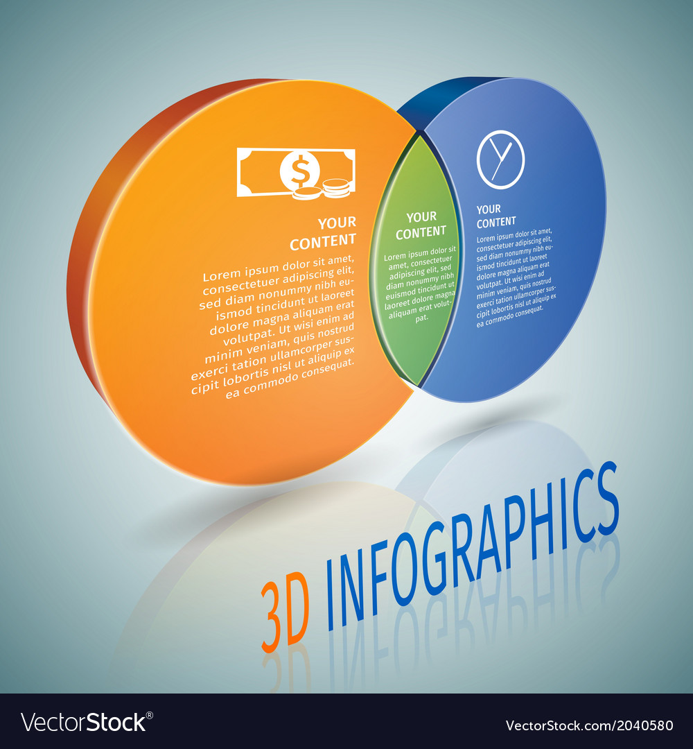 Circle chart 3d infographics vector | Price: 1 Credit (USD $1)