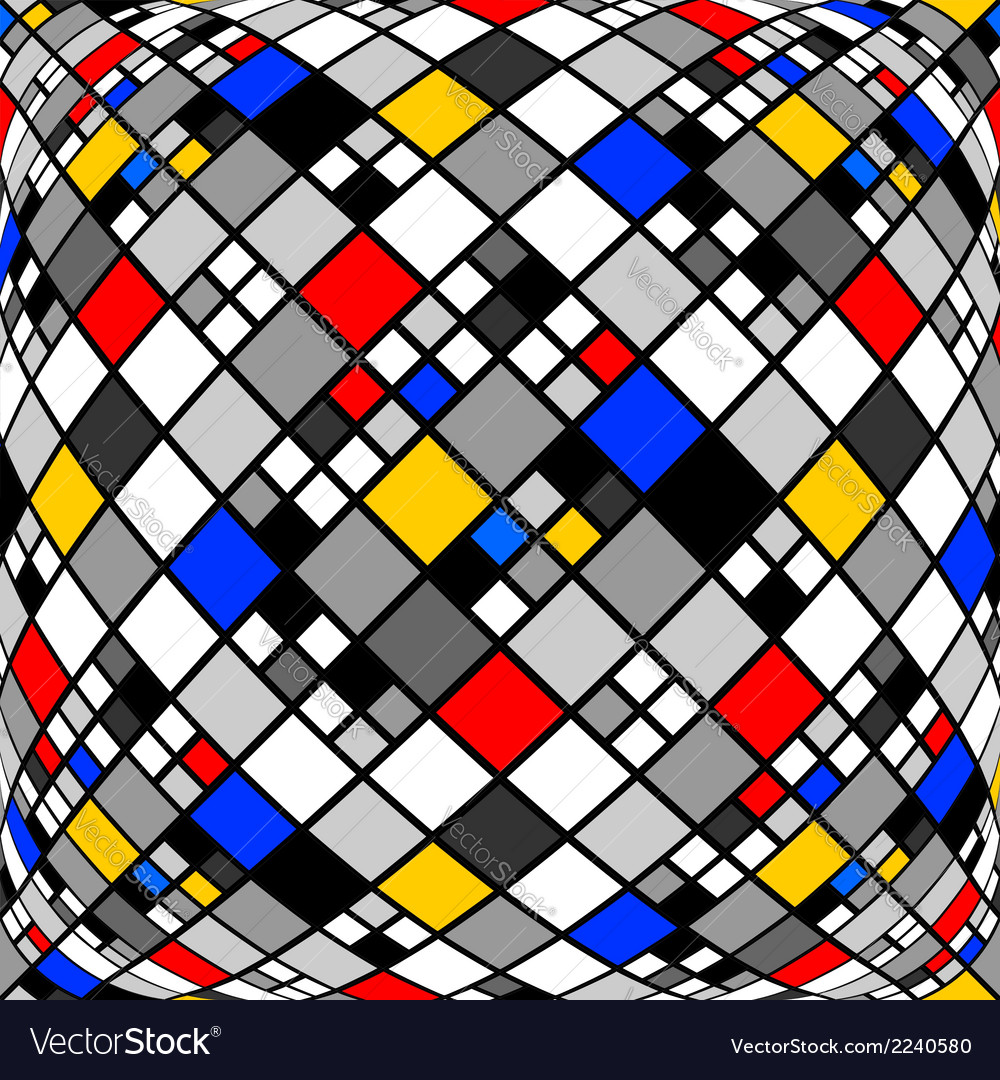 Design monochrome warped diamond mosaic pattern vector | Price: 1 Credit (USD $1)