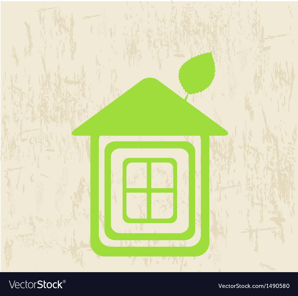 Eco home symbol icon vector | Price: 1 Credit (USD $1)