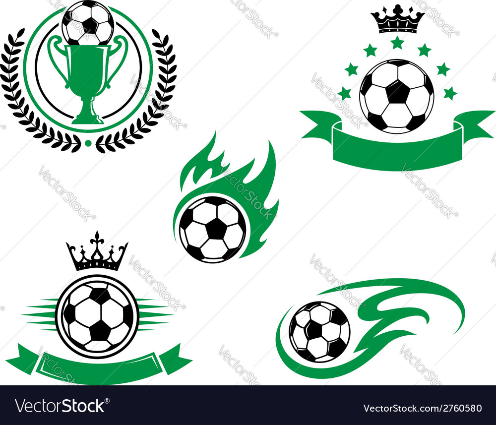 Football and soccer design elements vector | Price: 1 Credit (USD $1)
