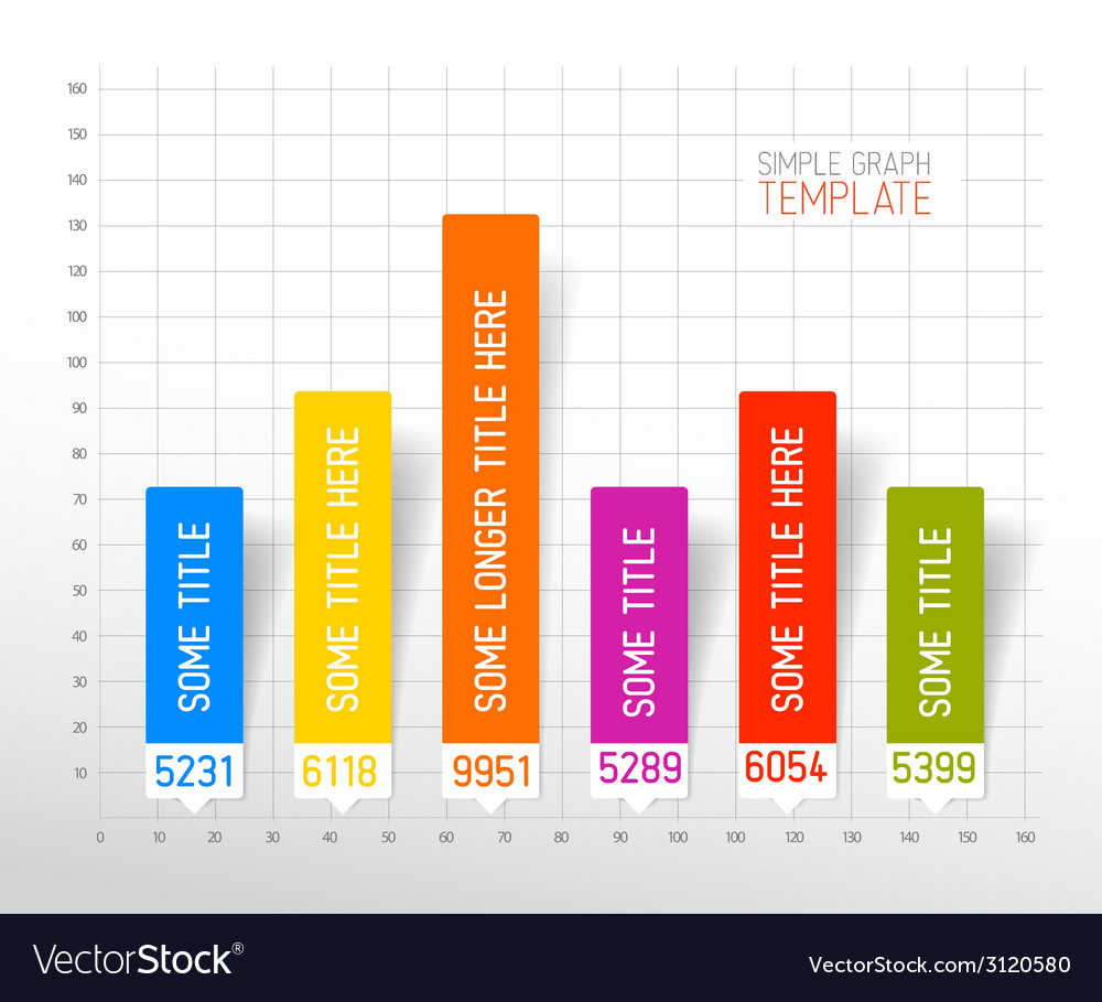 Infographic flat design column graph chart vector | Price: 1 Credit (USD $1)