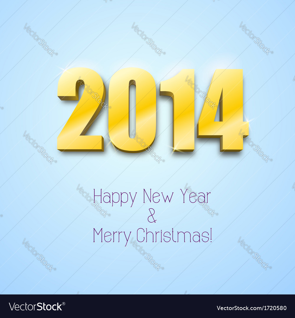 New year 2014 background gold numbers vector | Price: 1 Credit (USD $1)