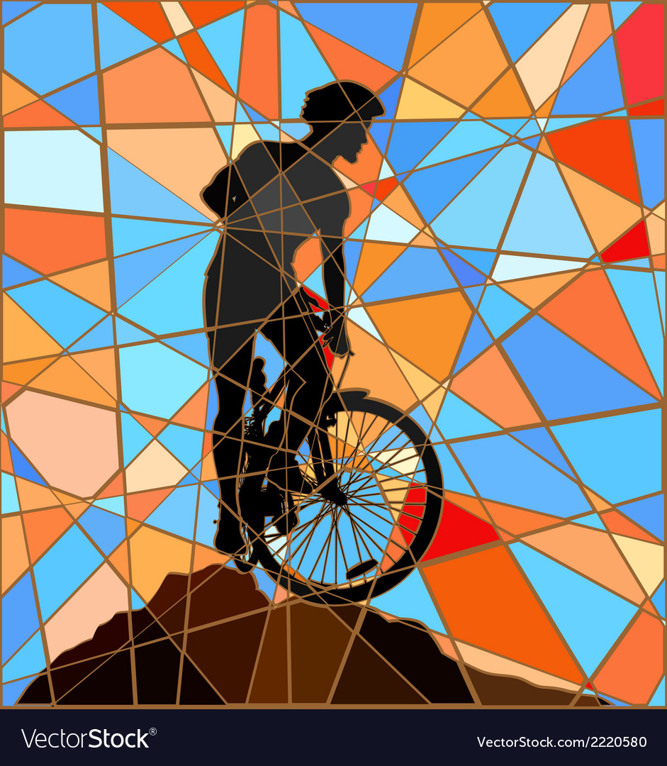 Ridge rider mosaic vector