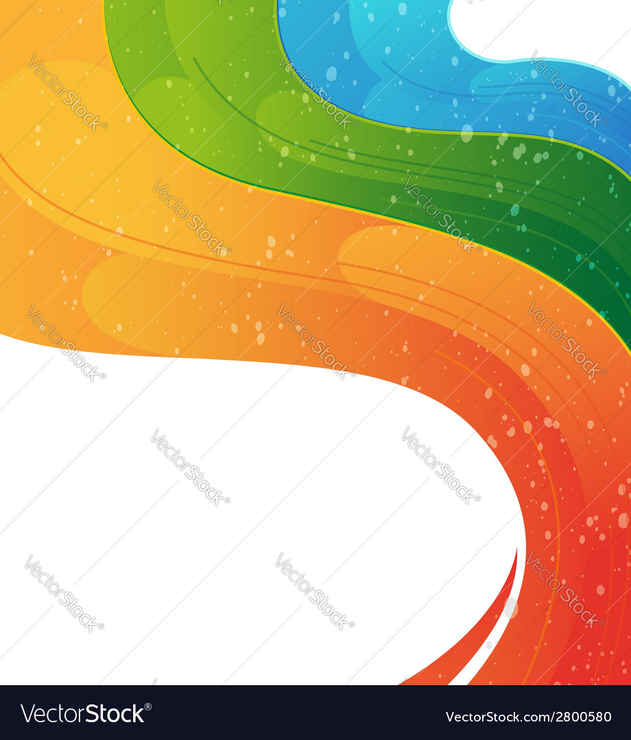 Wavy rainbow background vector | Price: 1 Credit (USD $1)