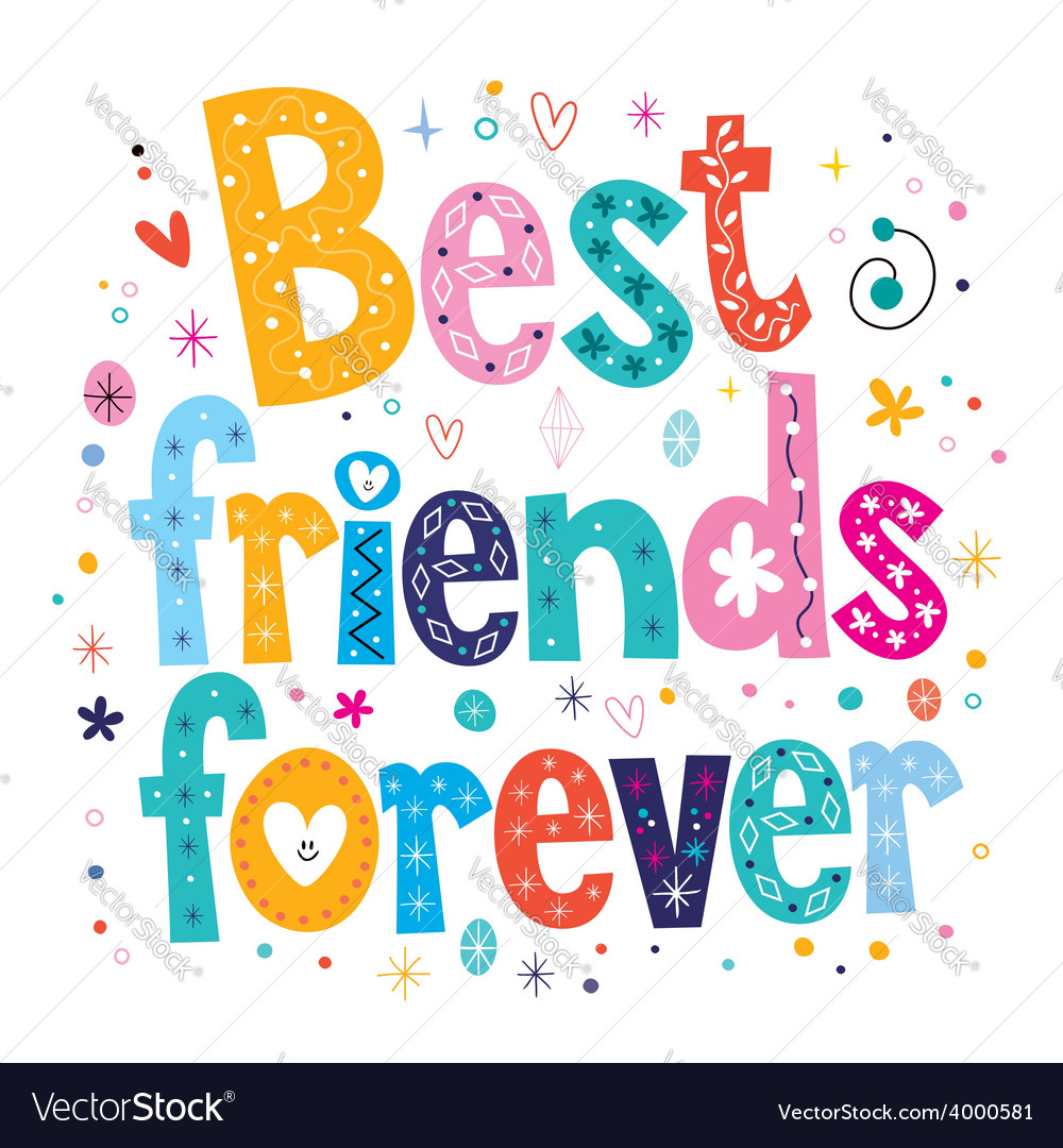 Best friends forever vector | Price: 1 Credit (USD $1)