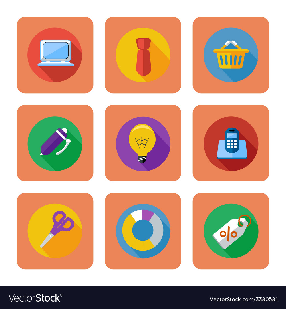 Business shopping and marketing items icons vector | Price: 1 Credit (USD $1)