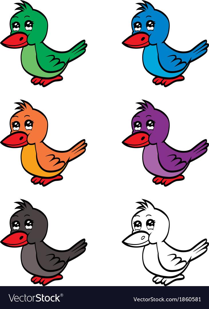 Cute cartoon bird vector | Price: 1 Credit (USD $1)