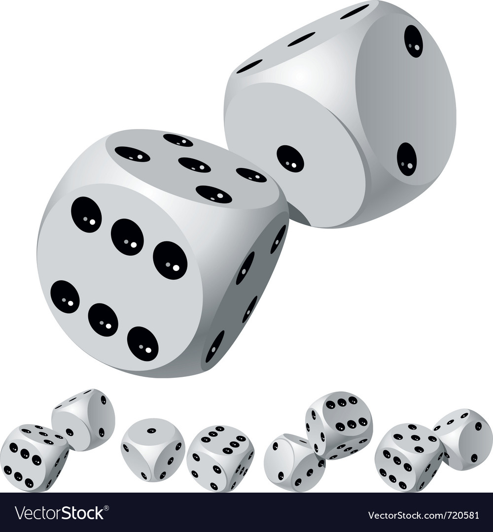 Dice rolls vector | Price: 1 Credit (USD $1)