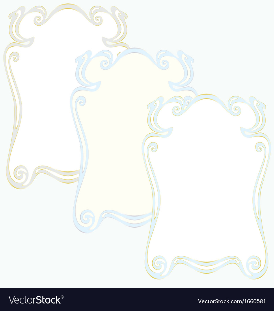 Frame set old-fashion retro style vector | Price: 1 Credit (USD $1)