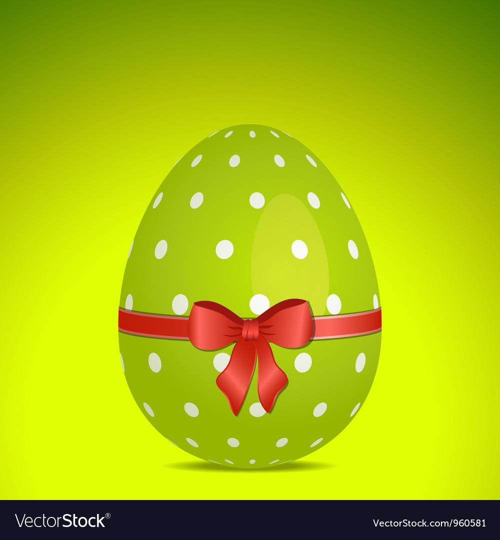 Green polka dot easter egg vector | Price: 1 Credit (USD $1)