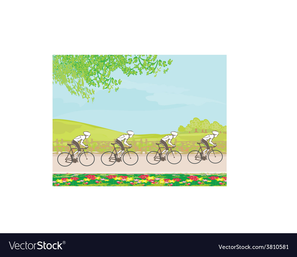 Group of riders racing vector | Price: 1 Credit (USD $1)
