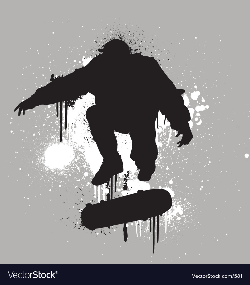 Stencil skater vector | Price: 1 Credit (USD $1)