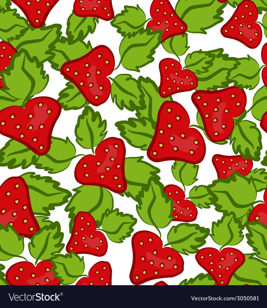 Strawberry seamless vector | Price: 1 Credit (USD $1)