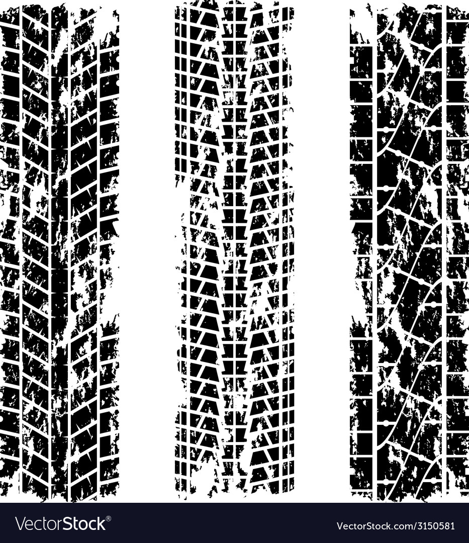 Tire tracks grunge vector | Price: 1 Credit (USD $1)