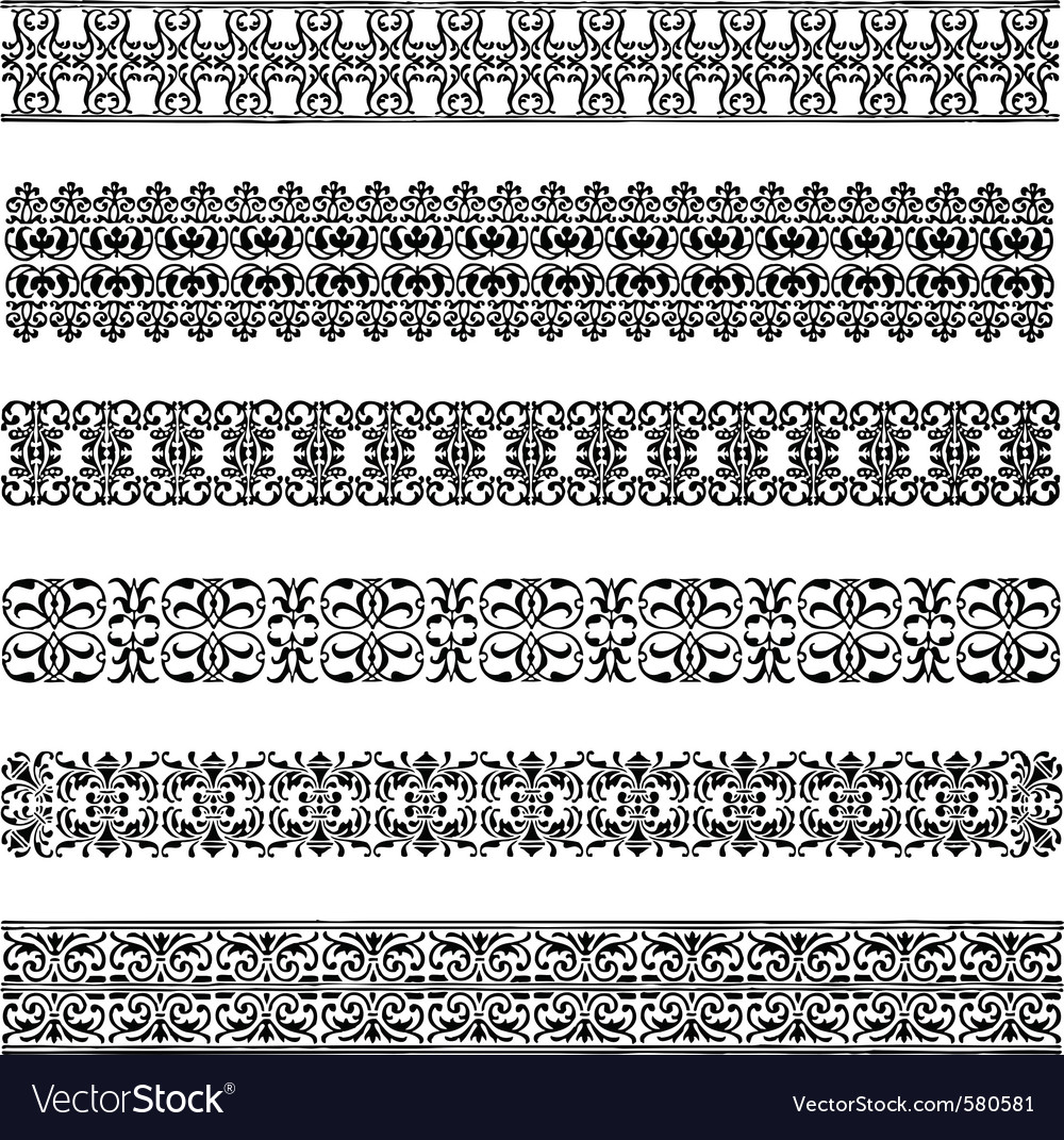 Vintage borders vector | Price: 1 Credit (USD $1)